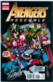Avengers Assemble #1 Adams Variant Dynamic Forces Signed Stan Lee DF COA Ltd 2 Marvel comic book
